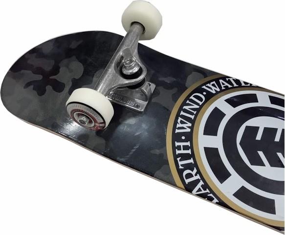 Skate Element Montado Completo Profissional Bark Camo Metallum Next BS Camuflado