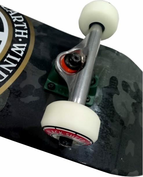 Skate Element Montado Completo Profissional Bark Camo Seal Next Fun Light BS