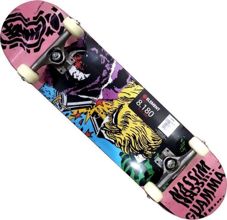 Skate Element Montado Completo Profissional Bergy Nassim Metallum Next Gesso