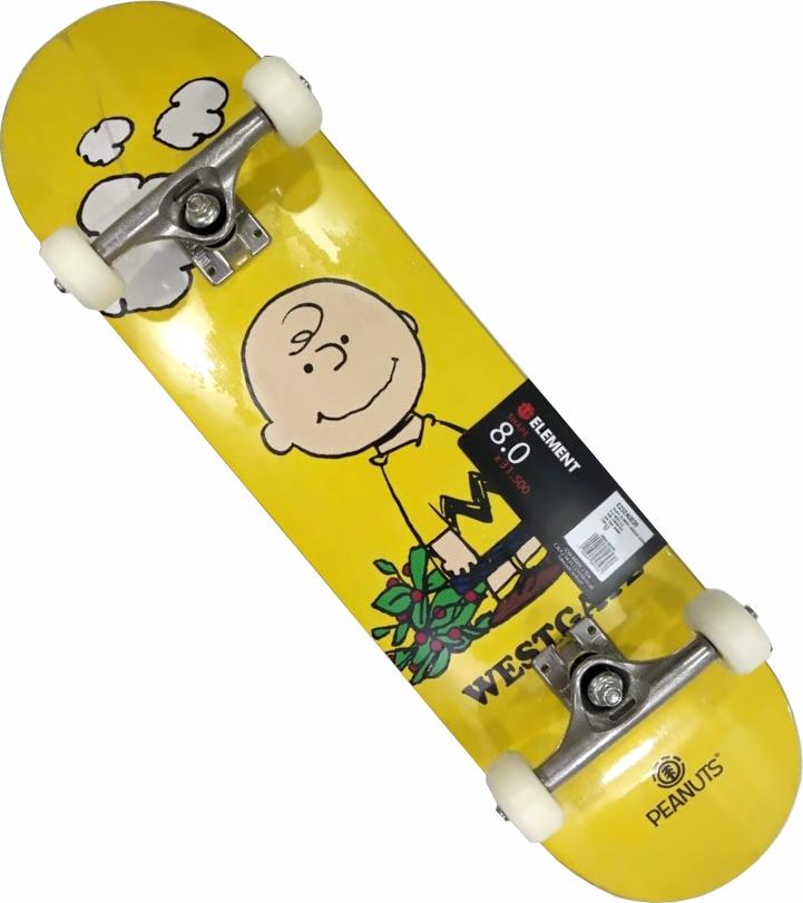 Skate Element Montado Completo Profissional Charlie Brown Next Metallum Visible BS