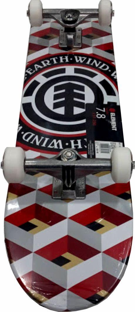 Skate Element Montado Completo Profissional Conifer Moska Metallum Gesso Quadriculado