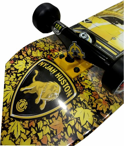 Skate Element Montado Completo Profissional Nyjah Gold Reds Bones Intruder Moska