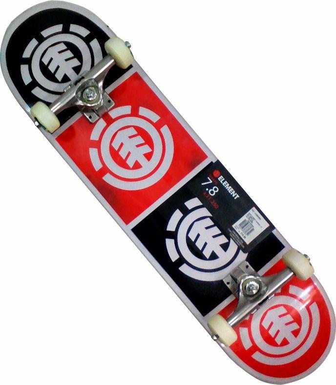 Skate Element Montado Completo Profissional Quadrant Crail Next Agacê Preto/Vermelho
