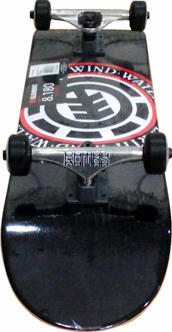 Skate Element Montado Completo Profissional Seal Crail Moska Black