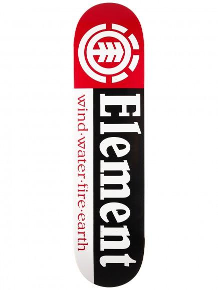 Skate Element Montado Completo Profissional Section Moska Intruder Gesso Preto Vermelho