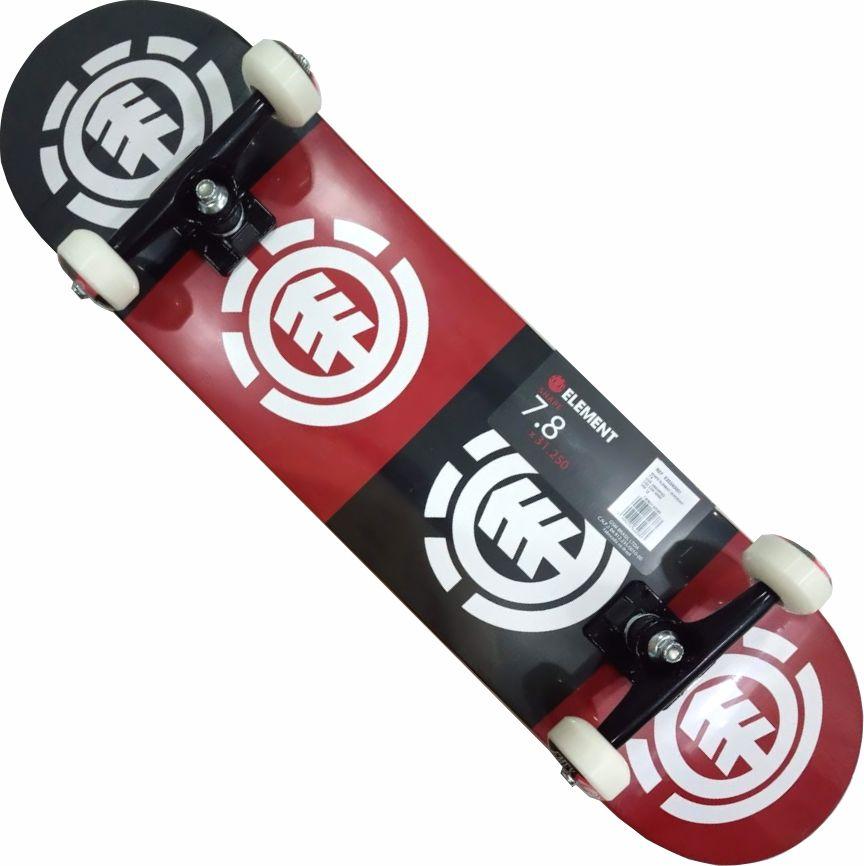 Skate Element Montado Completo Quadrant Metallum FCR Black