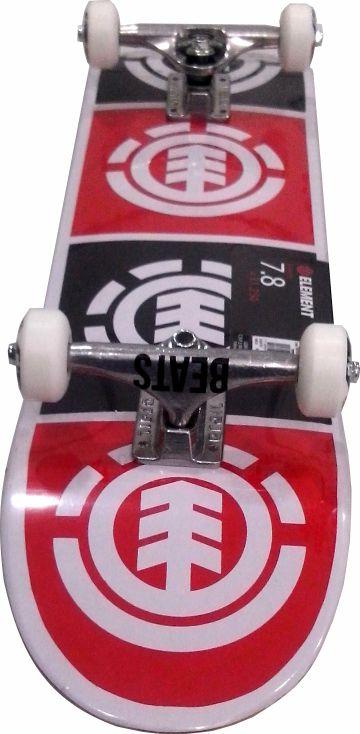 Skate Element Montado Completo Quadrant Moska/Crail/Pig Vermelho/Preto