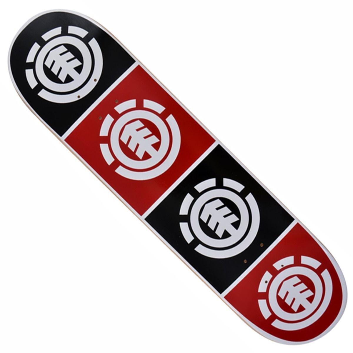 Skate Element Montado Completo Quadrant Moska Crail Preto/Vermelho