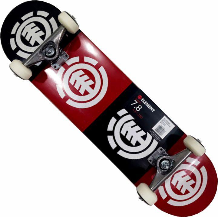 Skate Element Montado Completo Quadrant Next Agacê Stick Preto/Vermelho