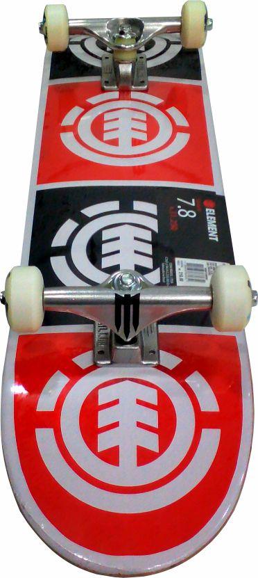 Skate Element Montado Completo Quadrant Reds Bones Next Preto/Vermelho