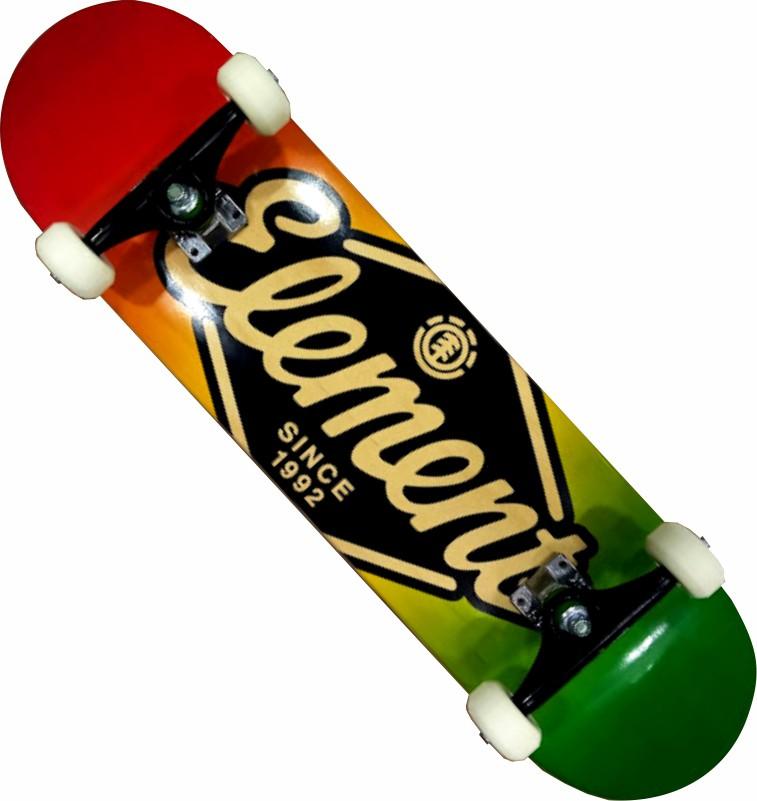 Skate Element Montado Completo Rhom Next Stick FCR Verde/Amarelo/Vermelho