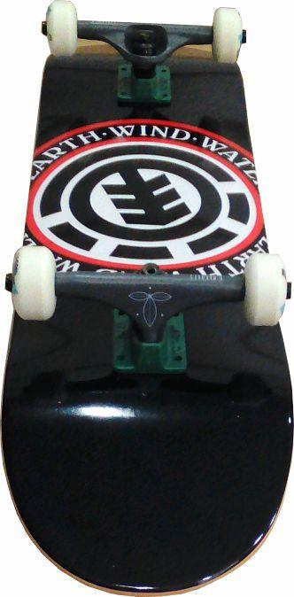 Skate Element Montado Completo Seal Crail Next Agacê Preto