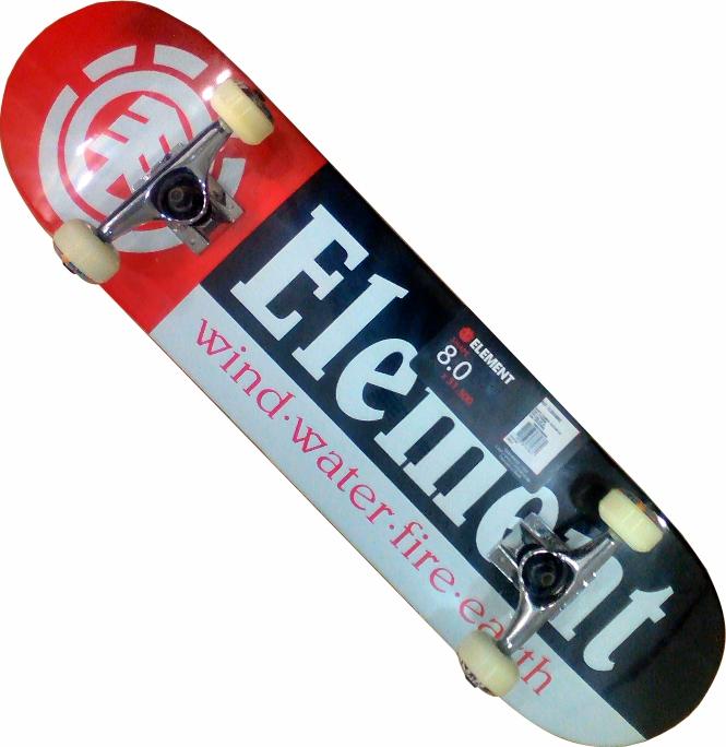 Skate Element Montado Completo Section Crail Next Visible BS Preto/Vermelho