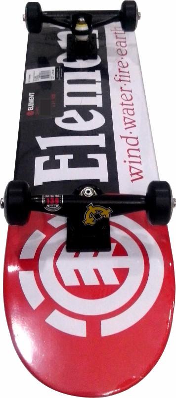 Skate Element Montado Completo Section Moska BS Intruder Preto/Vermelho