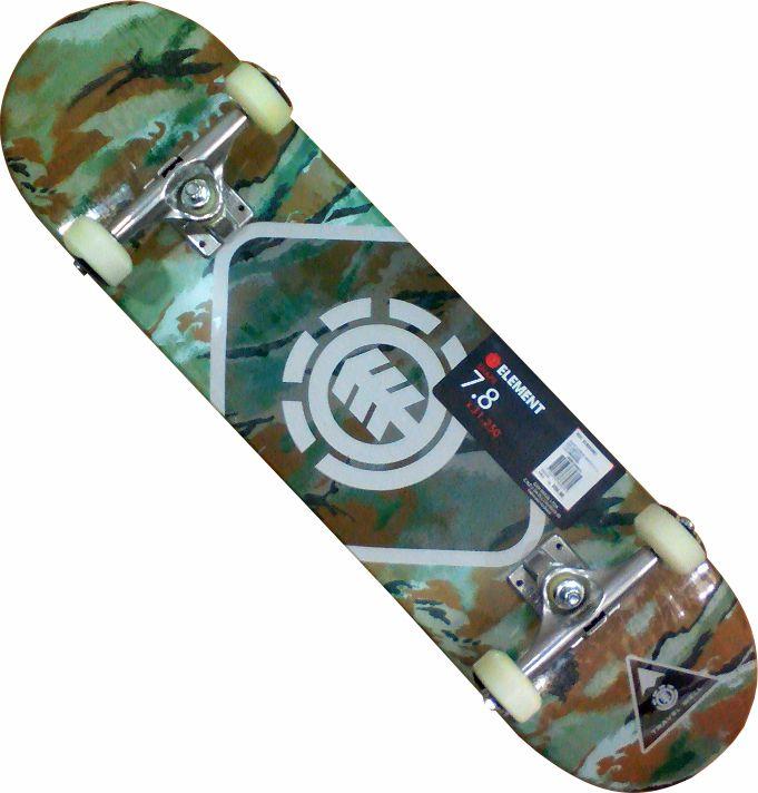 Skate Element  Street Montado Completo Camu/Moska/Mini Logo/Creme