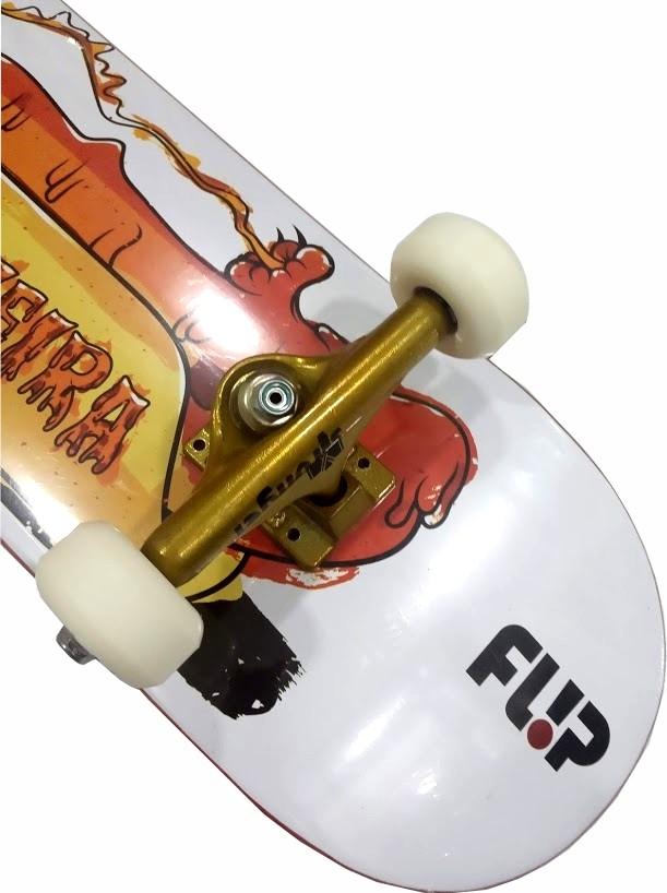 Skate Flip Montado Completo Prof. Luan Stronger BS Next Branco