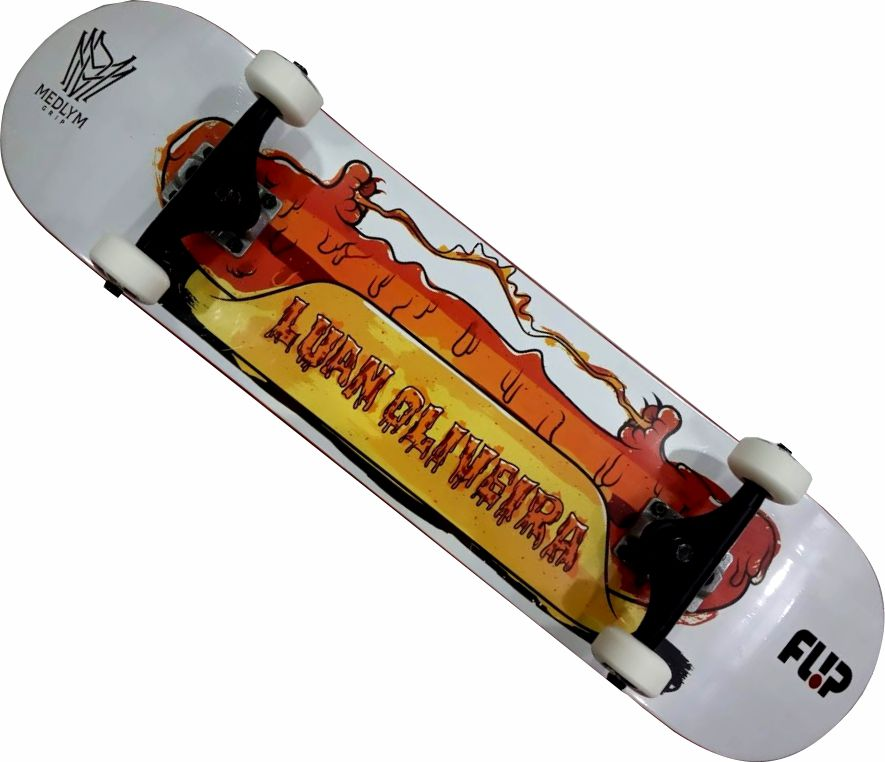 Skate Flip Montado Completo Profissional Luan Oliveira/Crail/Moska/Pig