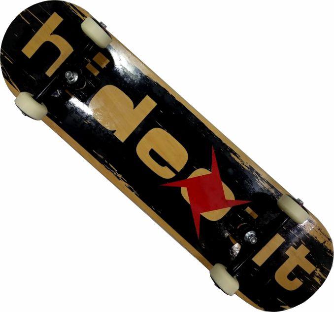 Skate Hidout Montado Completo Profissional Logo Stick Black Shep Brutus FCR