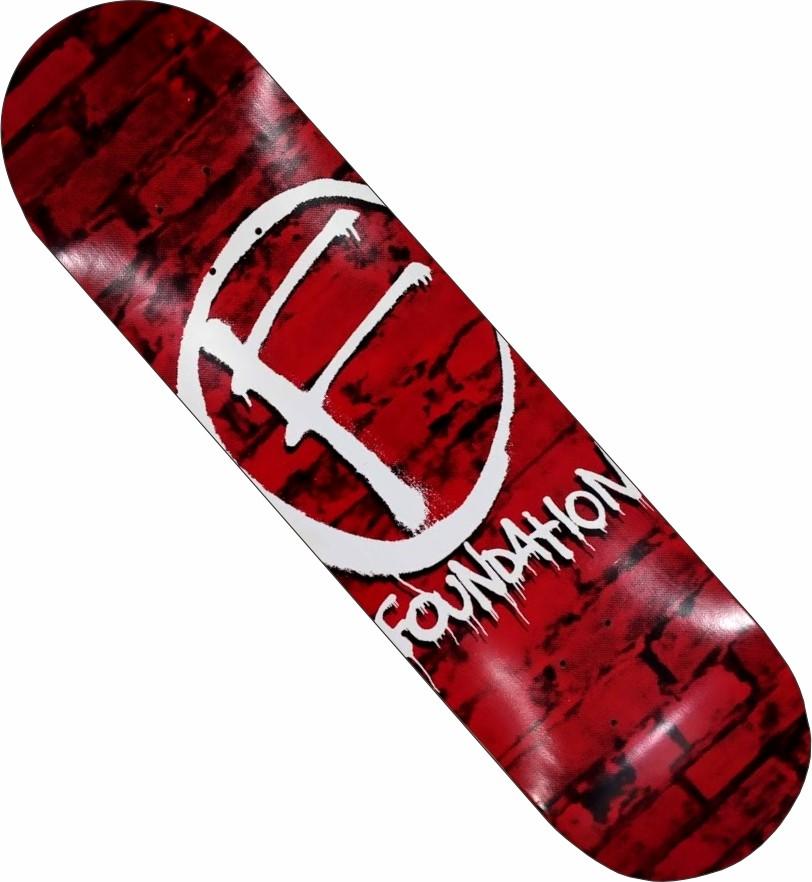 Skate Maple Foundation Montado Completo Pro BS Stick preto/vermelho