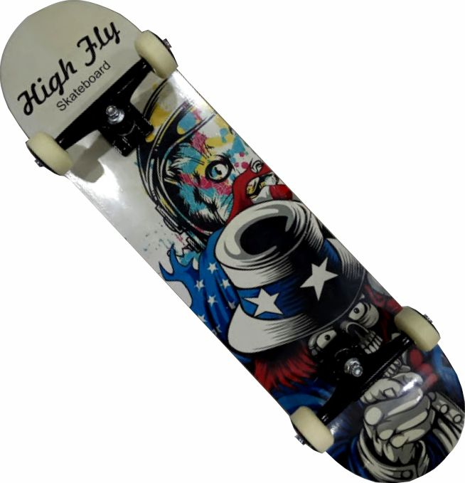 Skate Maple Montado Completo Profissional High Fly Stick FCR Black Sheep