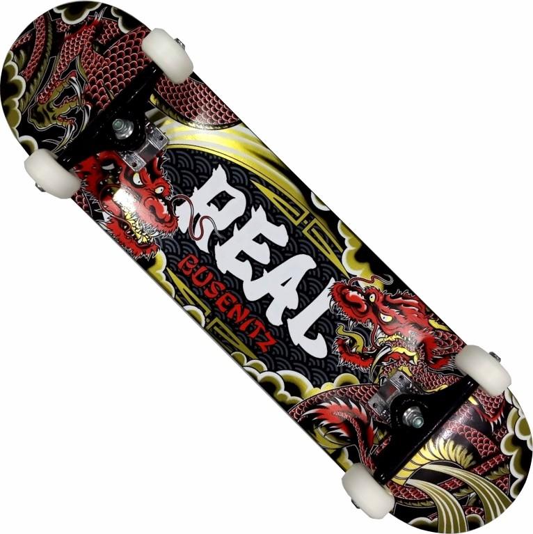 Skate Maple Real Montado Completo Pro Busenitz BS Kolami Stick Visible Foil