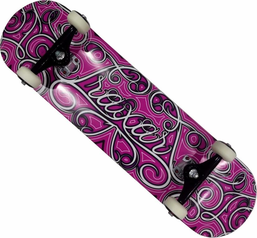 Skate Maple Traxart Montado Completo Profissional Stick Black Sheep FCR - Pink