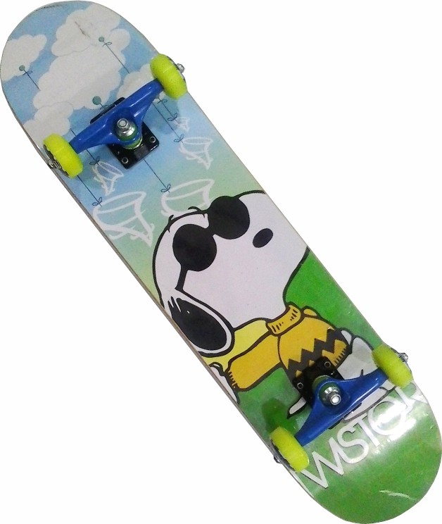 Skate Montado Completo Iniciante Twister Azul/Verde