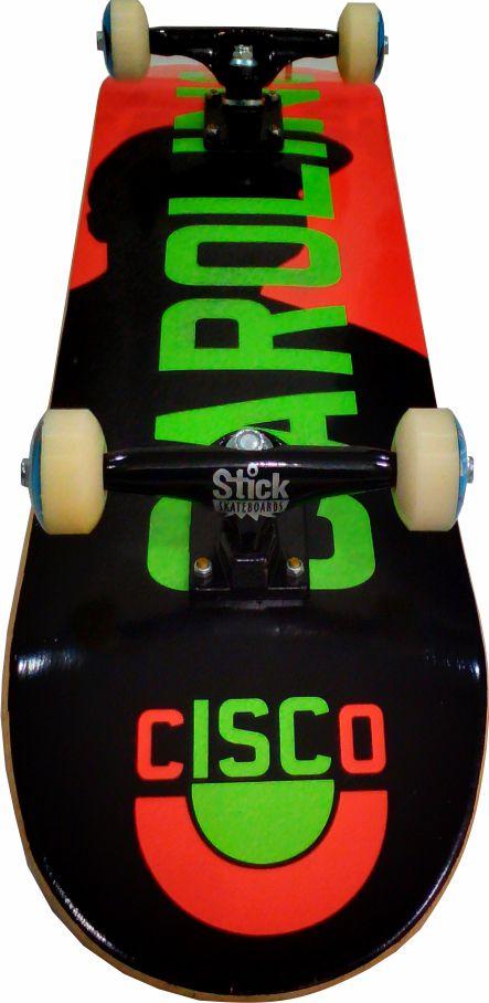 Skate Montado Completo Profissional ABEC 13/Cisco/Parts/Stick