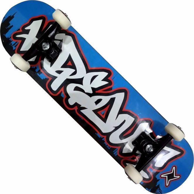 Skate Montado Completo Profissional Hidout Next Stick Abec 13 Azul
