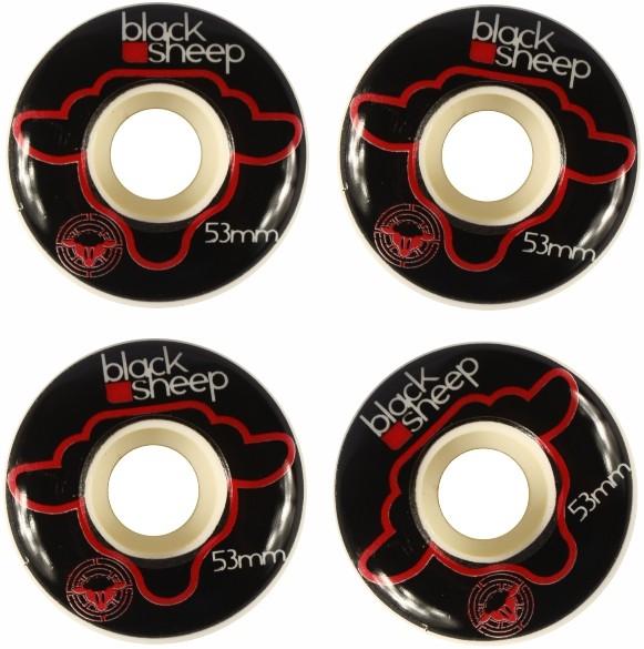 Skate Montado Completo Profissional Mezcla Stick Black Sheep FCR - Preto
