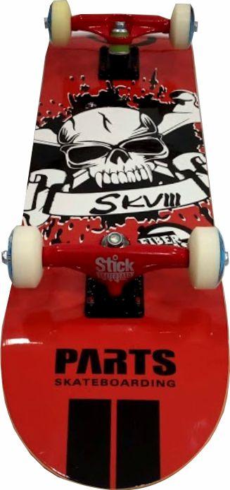 Skate Montado Completo Profissional -Parts - ABEC 13 Vermelho