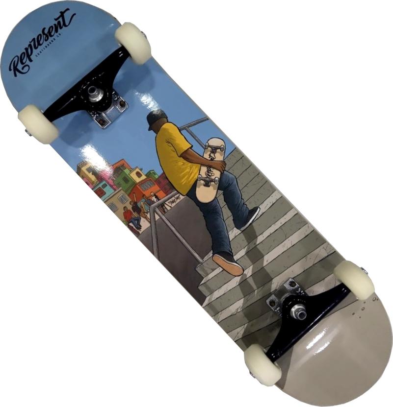 Skate Montado Completo Profissional Represent Next Stick FCR Atleta