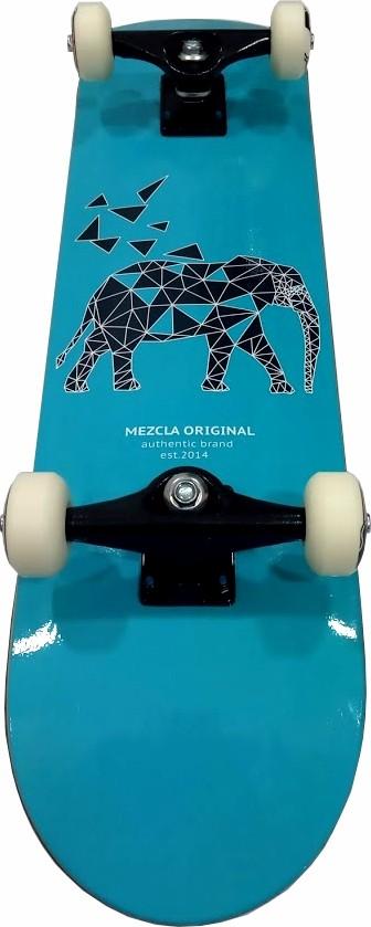 Skate Nontado Completo Pro II Mezcla Stick Black Sheep Azul