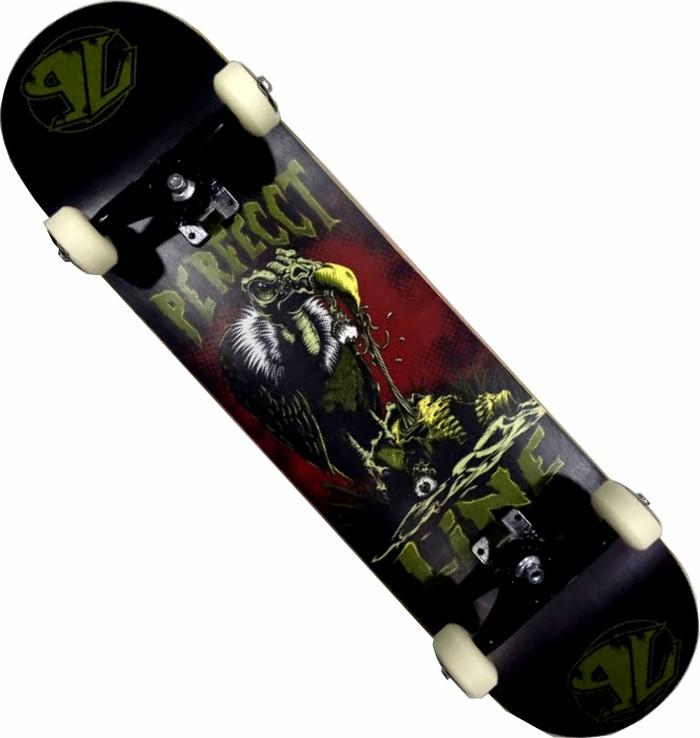 Skate Perfect Line Montado Completo Profissional Stick FCR B