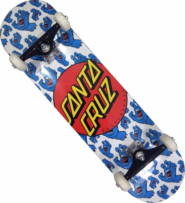 Skate Santa Cruz Montado Completo Allover Stick Next FCR Branco