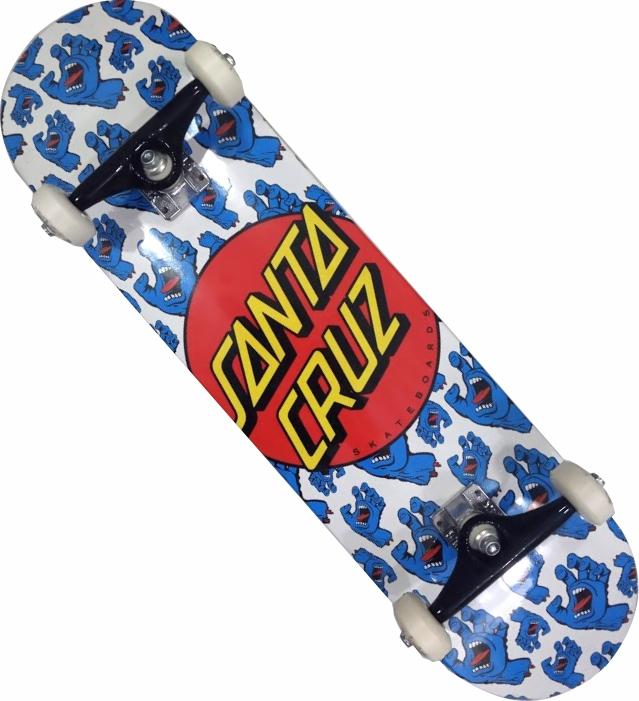Skate Santa Cruz Montado Completo Allover Stick Next FCR Branco