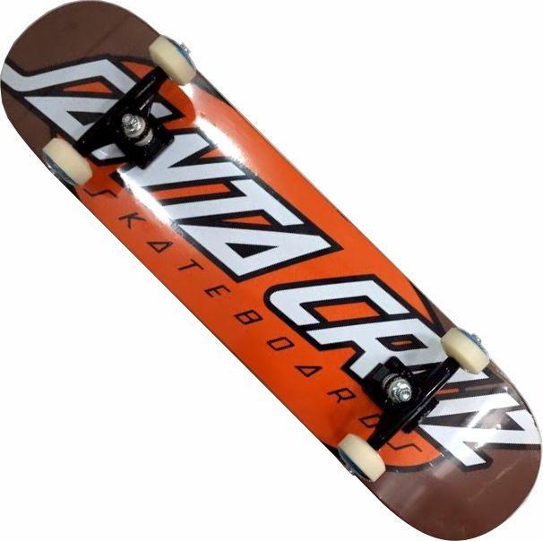 Skate Santa Cruz Montado Completo Dot/Parts Abec 13 - Laranja