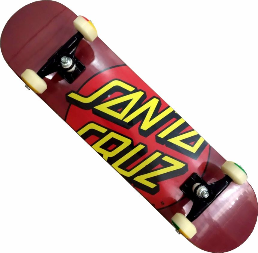 Skate Santa Cruz Montado Completo Dot Red/Parts Abec 13 - Vinho