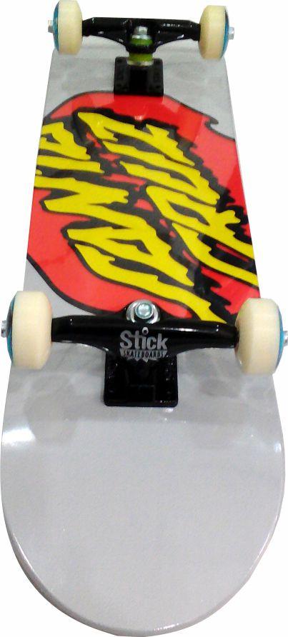 Skate Santa Cruz Montado Completo Drit/Parts/Abec 13 Cinza