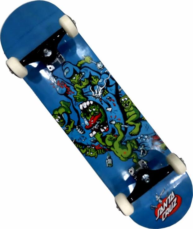 Skate Santa Cruz Montado Completo Gremlin Patrol Next Stiick Fcr Azul