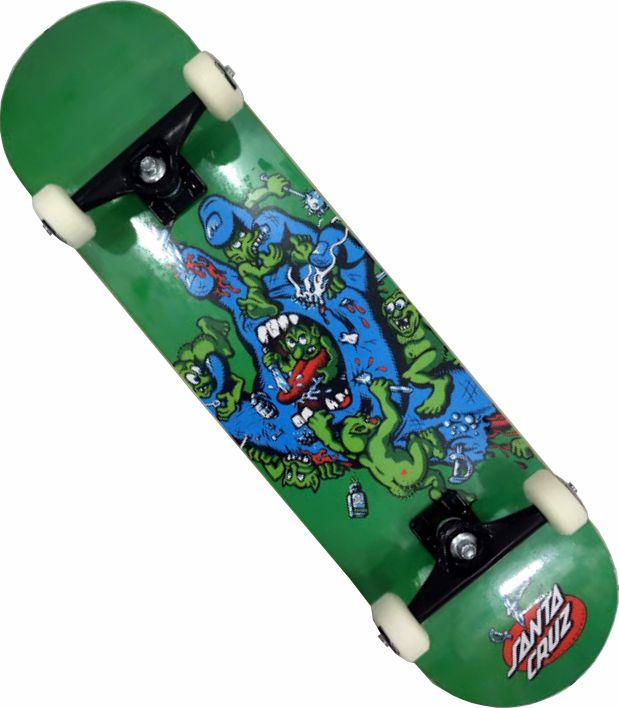 Skate Santa Cruz Montado Completo Gremlin Stick kolami Next Verde