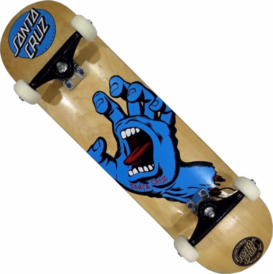 Skate Santa Cruz Montado Completo Hand Wood Next Stick FCR - Madeira