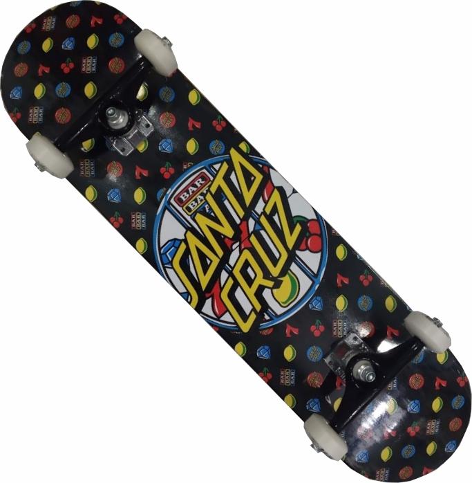 Skate Santa Cruz Montado Completo Jackpot Next Stick BS Preto