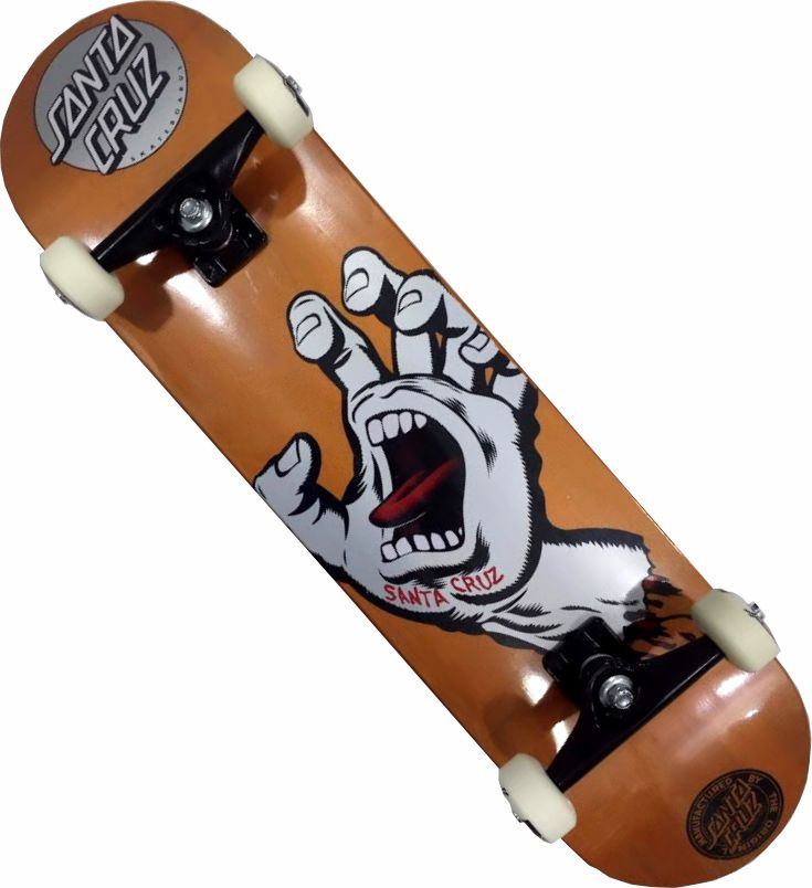 Skate Santa Cruz Montado Completo Orange  Metalic Reds Bones Next Stick