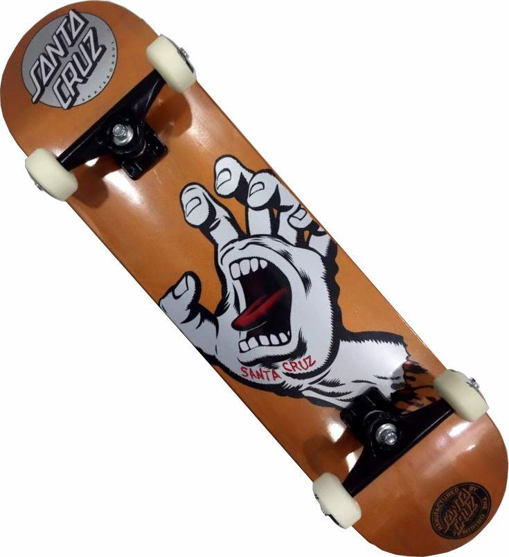 Skate Santa Cruz Montado Completo Orange Metalic Stick Next Abec 13