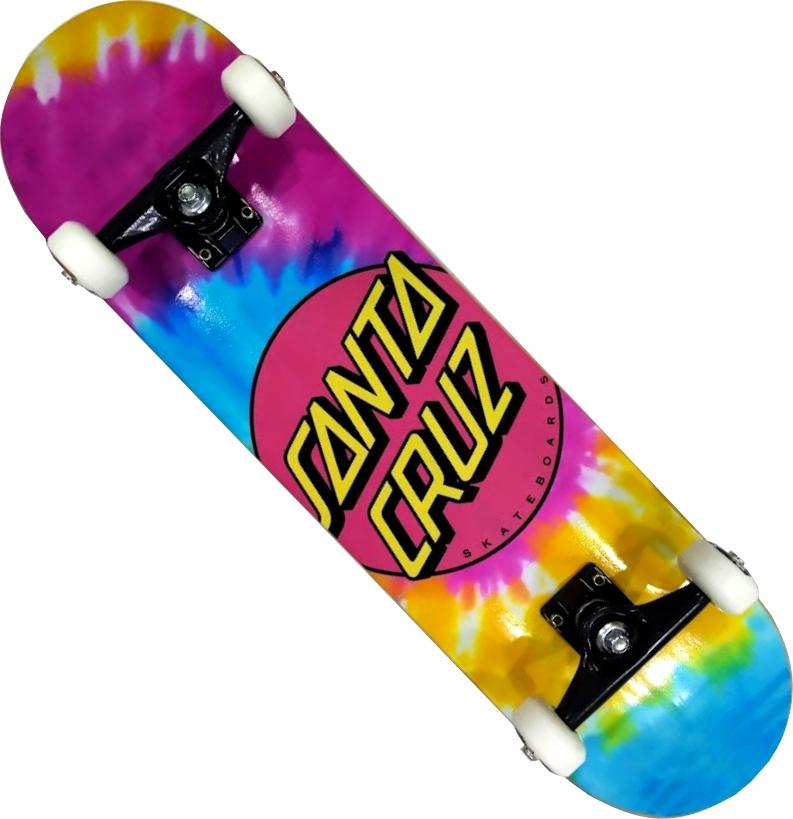 Skate Santa Cruz Montado Completo Pro A Pink Dot Tie Moska BS Parts Visible