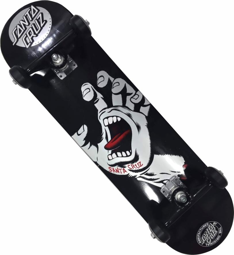Skate Santa Cruz Montado Completo Prof. A Hand Moska BS Black