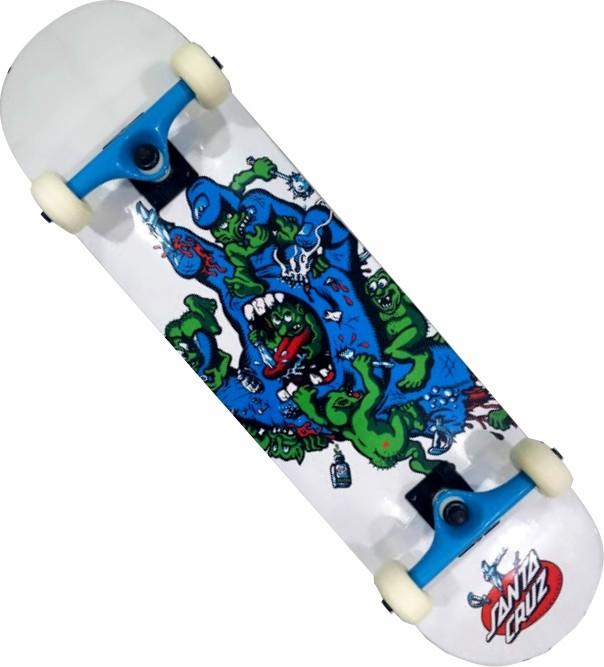 Skate Santa Cruz Montado Completo Profissional Gremlin Next Traxart FCR Branco