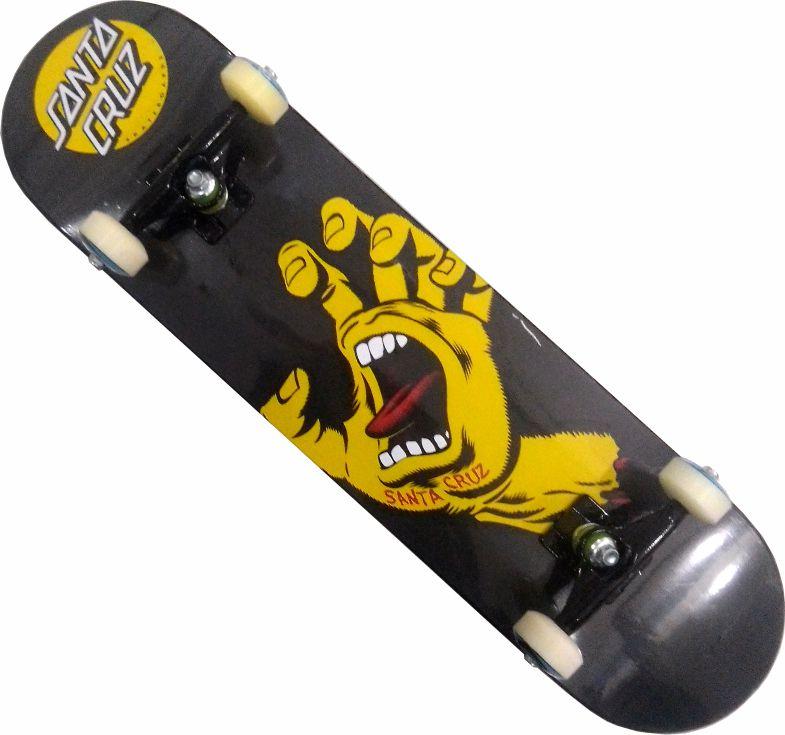 Skate Santa Cruz Montado Completo Profissional Hand/Black Sheep/Abec 11