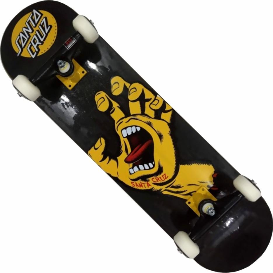 Skate Santa Cruz Montado Completo Profissional Hand Intruder Next Kolami Black